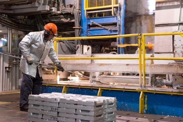 The galvanizing process at NMC's partner company, National Galvanizing.